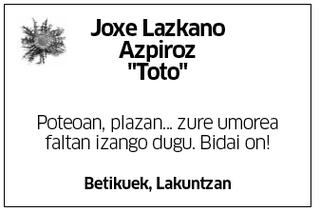 "Joxe Lazkano Azpiroz ""Toto"""