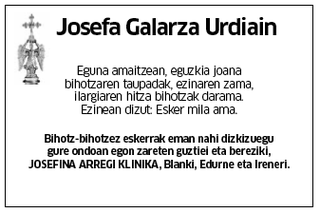 Josefa Galarza Urdiain