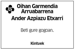 Oihan Garmendia Arruabarrena-Ander Azpiazu Etxarri