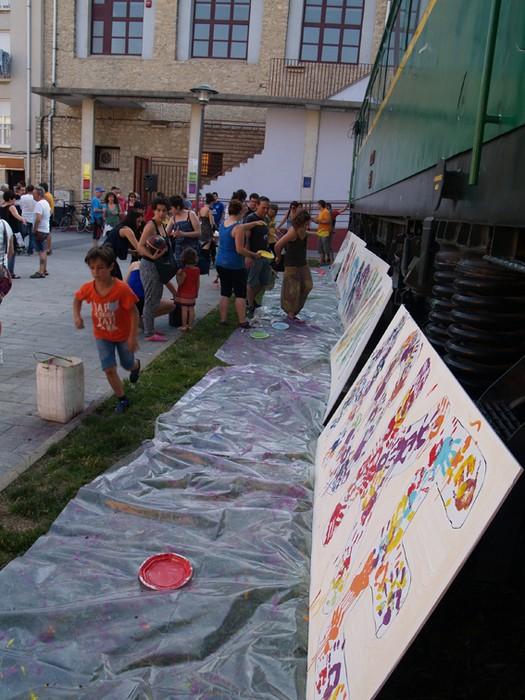 Mural koloretsua 7 hilabetetako espetxeratzea salatzeko - 9