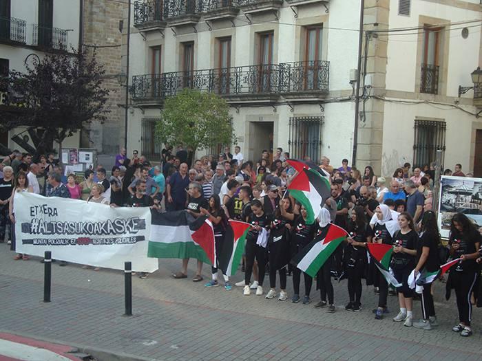 Palestinarren elkartasuna altsasuar auzipetuei