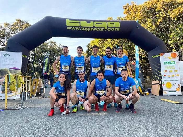 Beñat Katarain eta Amaia Razkin Euskal Herriko selekzioarekin Peñon Xtremen