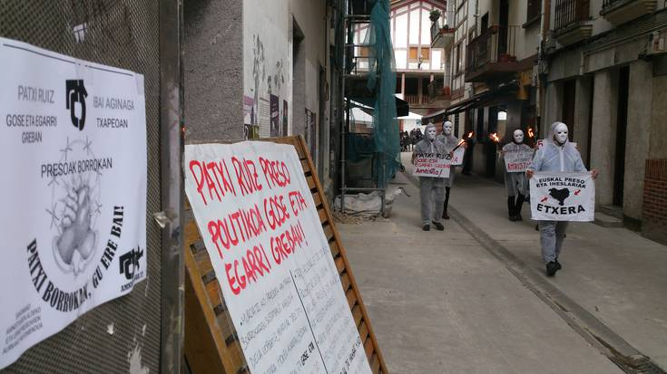 Patxi Ruiz presoaren egoera salatzeko mobilizazioak