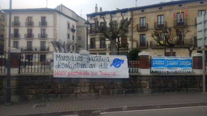 Juntadizoa, Iruñeko Maravillas gaztetxearen alde