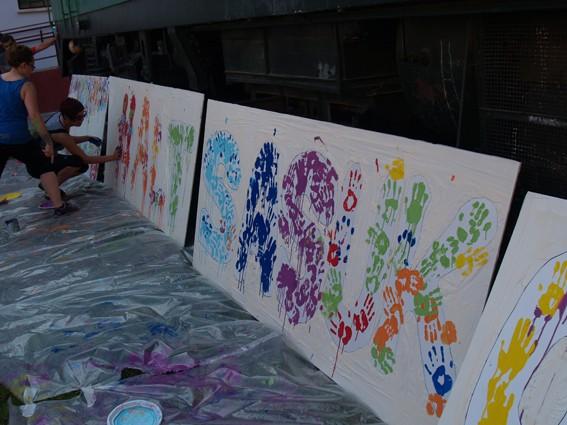 Mural koloretsua 7 hilabetetako espetxeratzea salatzeko - 5