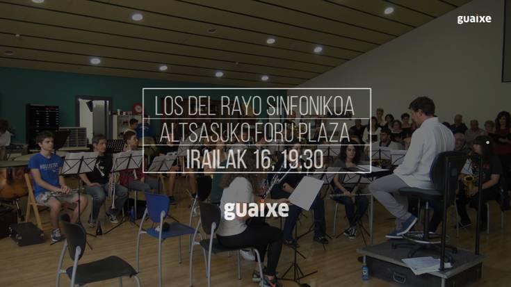 Los del Rayo sinfonikoa kontzertuaren entsegua