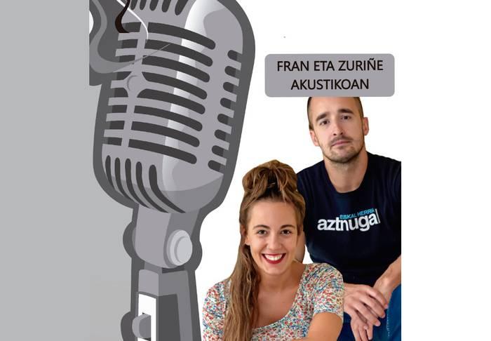 Estalopeko hotsak: Fran eta Zuriñe Hesian taldeko kideak akustikoan