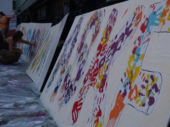 Mural koloretsua 7 hilabetetako espetxeratzea salatzeko - 10