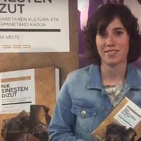 'Nik sinesten dizut' liburuaren aurkezpena Samara Velte idazlearekin