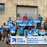 Sareren euskal presoen eskubideen defentsaren aldeko kontzentrazioa.
