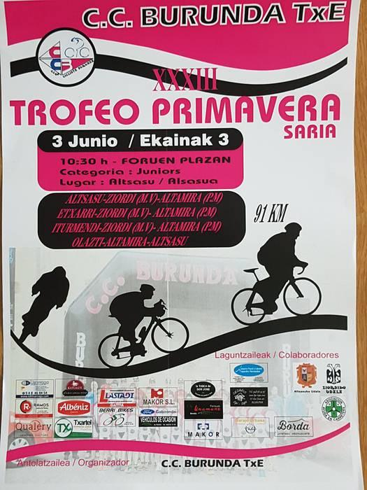 XXXIII Trofeo Primavera saria