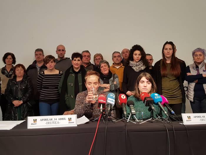 Altsasukoa salatzeko manifestazioa Iruñean