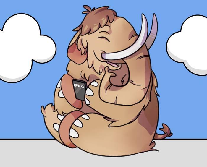 Guaixeren mastodonte urratsa