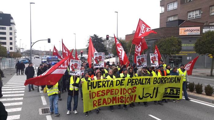 Huerta de Peraltako grebalariekiko elkartasun afaria