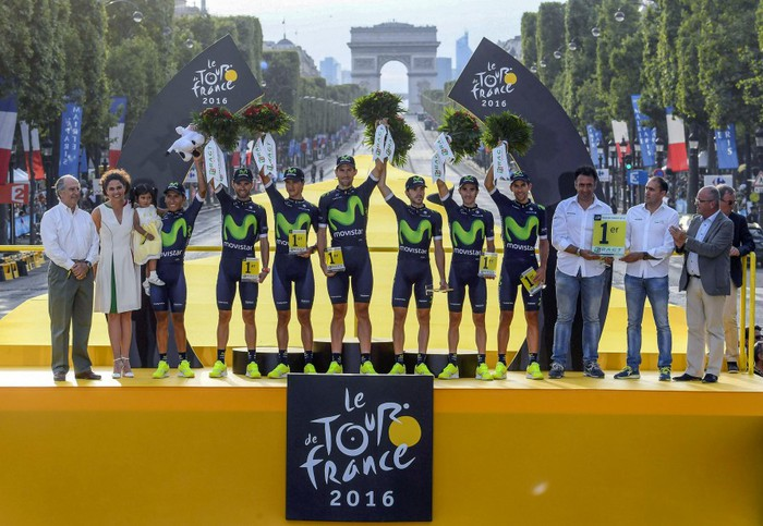 Erbitiren eta Arrietaren Movistar Team, Tourreko talde onena