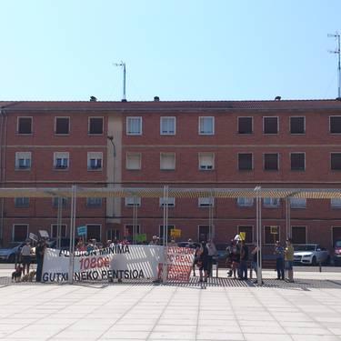 Pentsio duinen alde. Sakanako Jubilatuen eta Pentsiodunen Koordinakundearen manifestazioa.