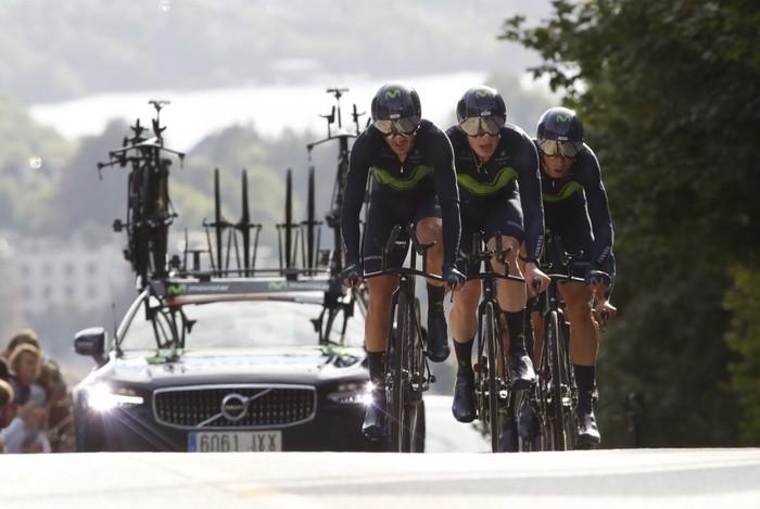 Erbitiren eta Izagirreren Movistar Team seigarrena taldekako Mundialetako erlojupean