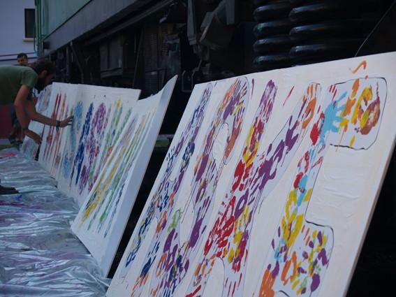Mural koloretsua 7 hilabetetako espetxeratzea salatzeko