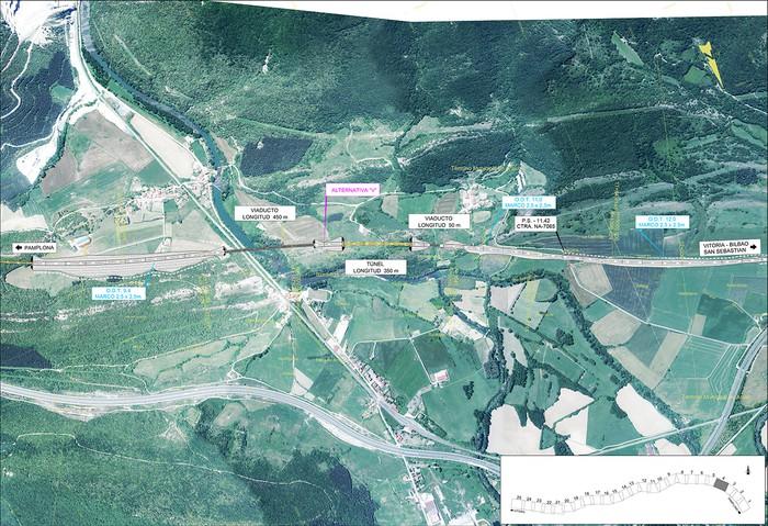 Iruñea eta Gasteiz arteko AHT ibilbide proiektua jendaurrean  - 2