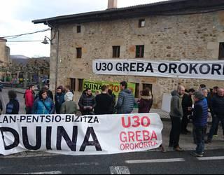 Greba Orokorra: Sakanako herrietako mobilizazioak