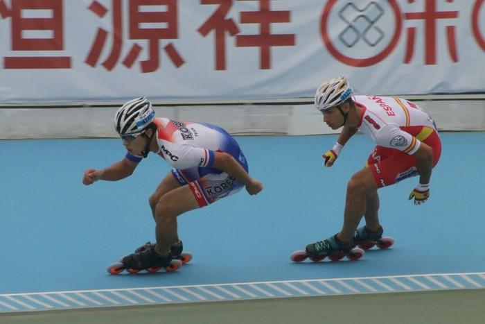 Ioseba Fernandez brontzezkoa 500 m esprintean