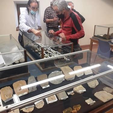 Koskobiloko Fosilen eta mineralen erakusketaren Benjamin Botanzen bisita gidatua
