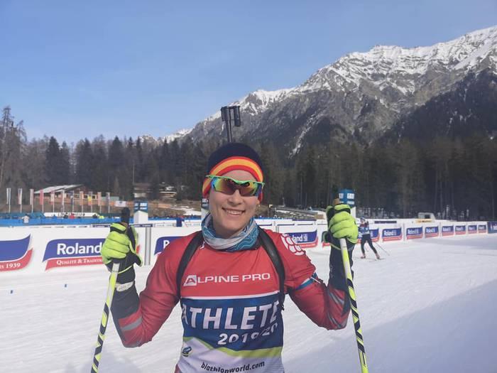 Olga Garziandiak ezin izan zuen Biatloi Mundiala despeditu