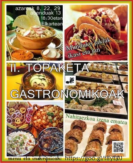 TXINGURRIYEk II. Topaketa Gastronomikoak antolatu