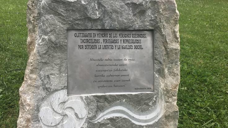 Olaztin memoria historikoko ekitaldia