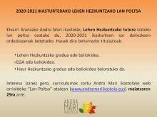 LH-KO TUTORE IZATEKO LAN POLTSA