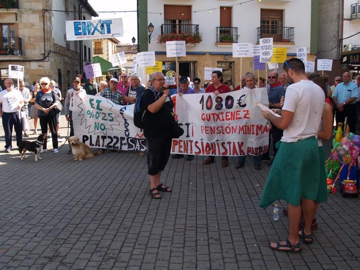 Pentsio duinen Iruñeko manifestaziorako autobusa antolatu dute