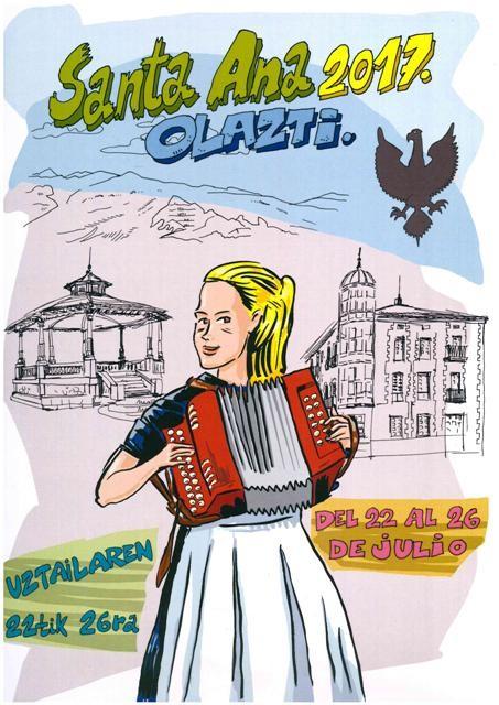 Olatzagutiko Santa Ana festek badute kartel iragarlea