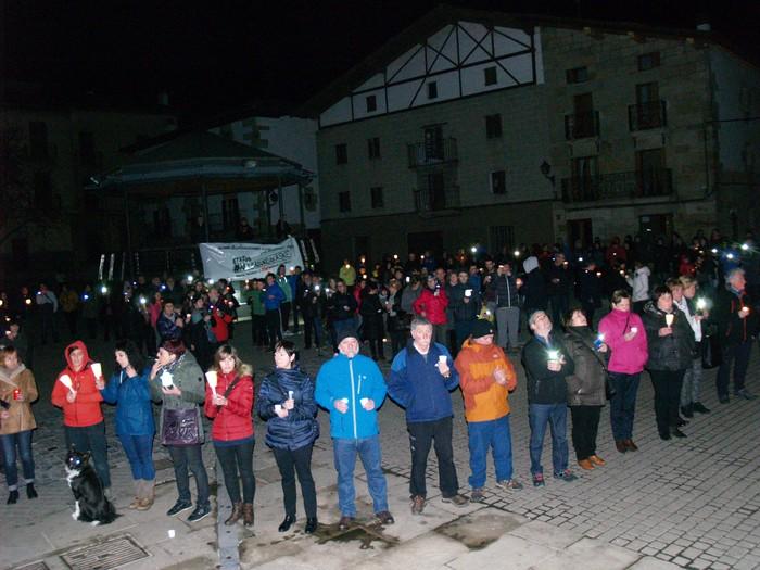 Espetxeratzeen 100. egunean protesta Iruñean