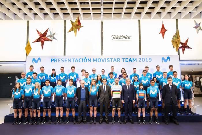Movistar Team taldeak 2019ko aurkezpena egin zuen atzo