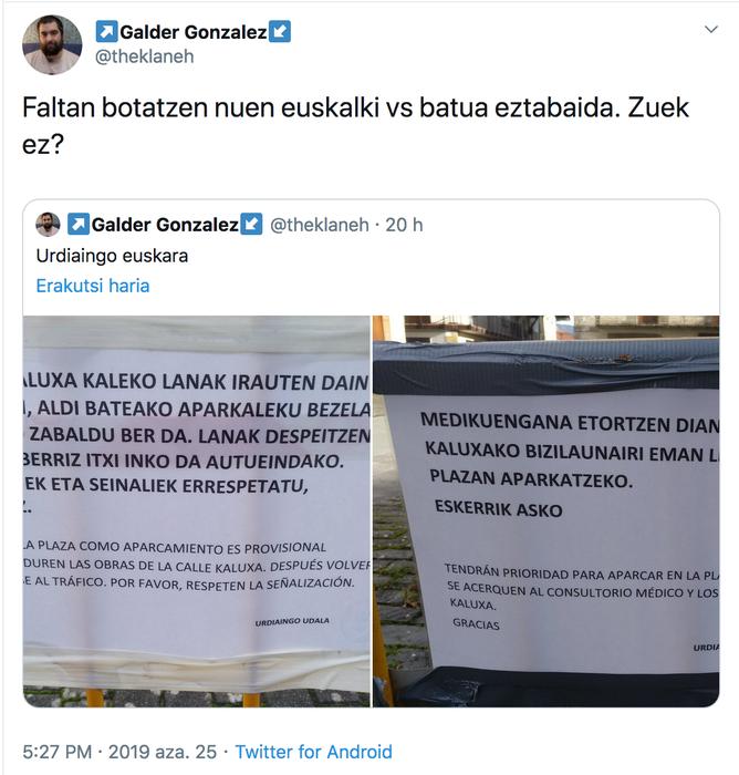 Faltan botatzen nuen euskalki vs batua eztabaida. Zuek ez?