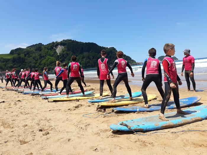 20 sakandar surfean trebatzen