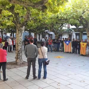 Kataluniako atxiloketak salatzeko kontzentrazioak egin dira