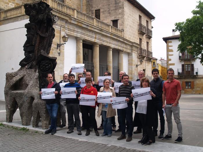 Alkateek Iruñeko manifestaziora joateko deia egin dute