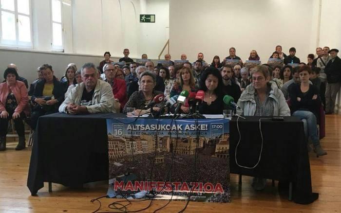 Nafarroako 60 eragilek larunbateko manifestazioarekin bat egin dute