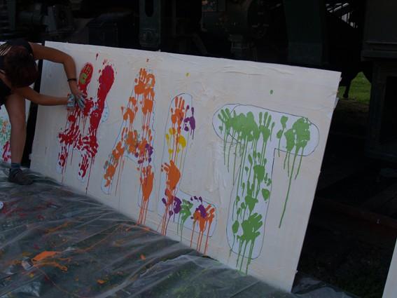 Mural koloretsua 7 hilabetetako espetxeratzea salatzeko - 2