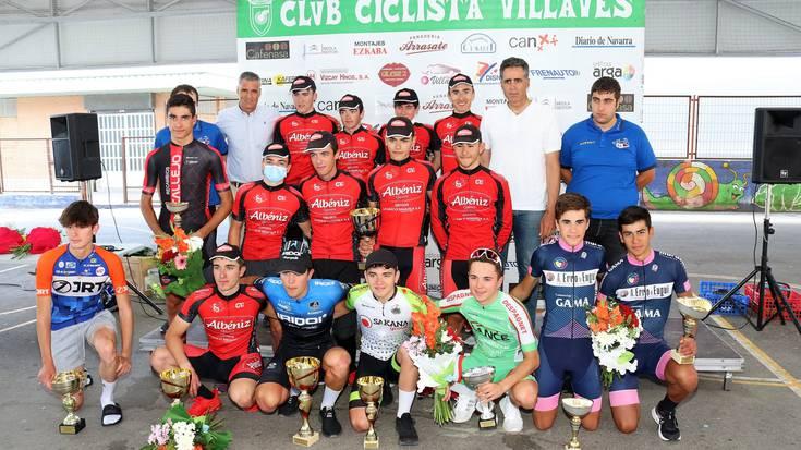 Hugo Aznar, Aimar Tadeo eta Quesos Albeniz Atarrabiako podiumean