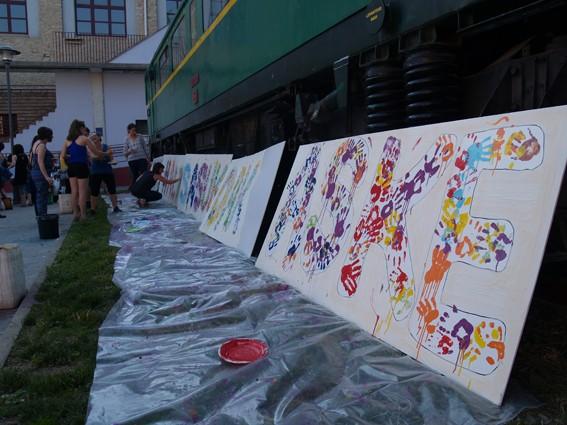 Mural koloretsua 7 hilabetetako espetxeratzea salatzeko - 8