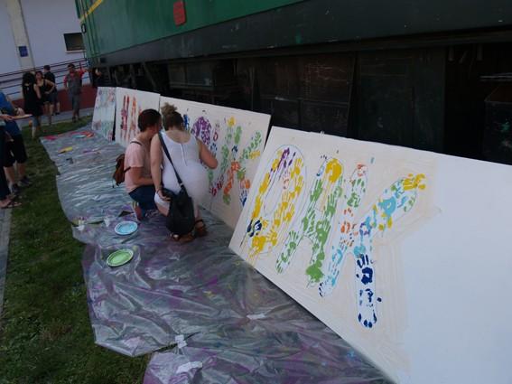 Mural koloretsua 7 hilabetetako espetxeratzea salatzeko - 7