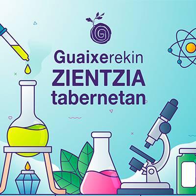 Guaixerekin zientzia tabernetan. Miren Barberia (biomedikuntza), Miren Karmele Gomez (astronomia eta stem) eta Alaitz Ruiz de Luzuriaga (polimeroak)